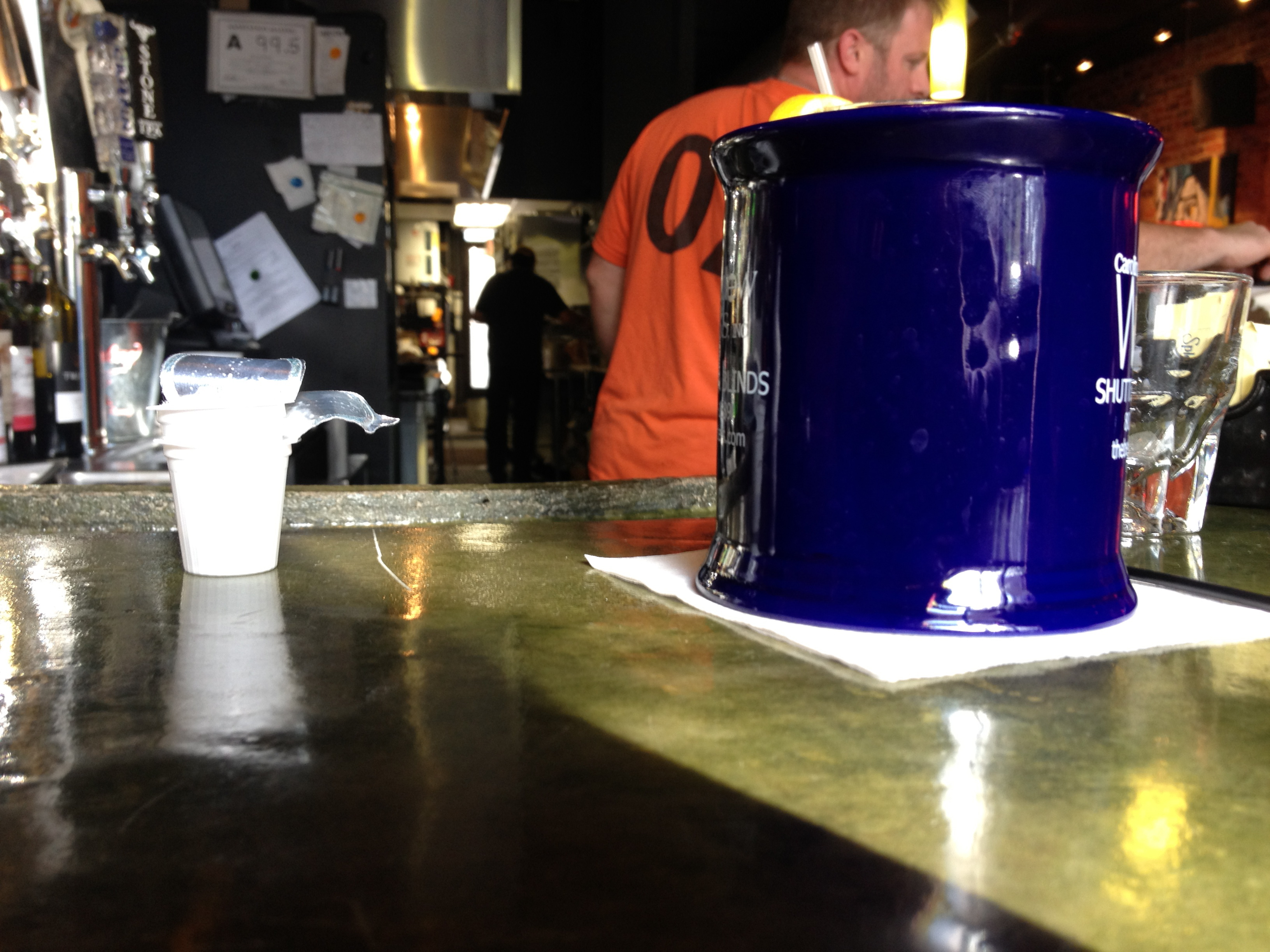 Coffee Cup on Jack Beagle's Bar