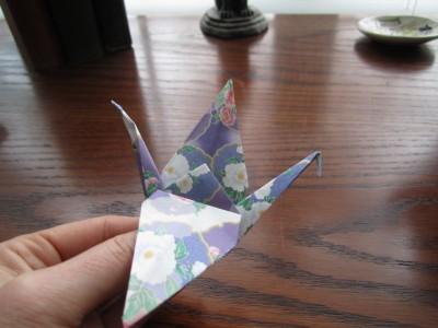 Folding down wings