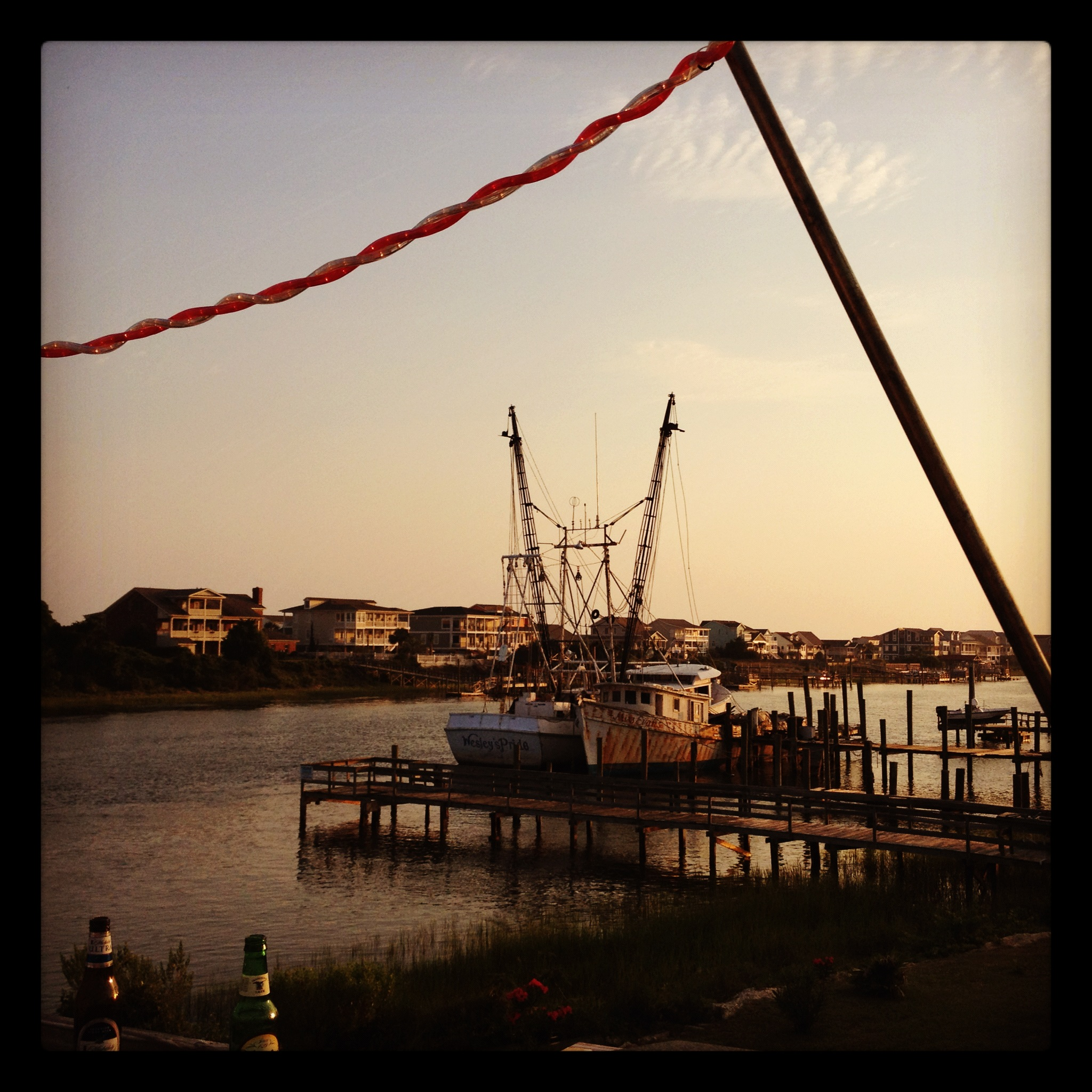 Holden Beach Shrimp Boat - from the Provision Company Deck