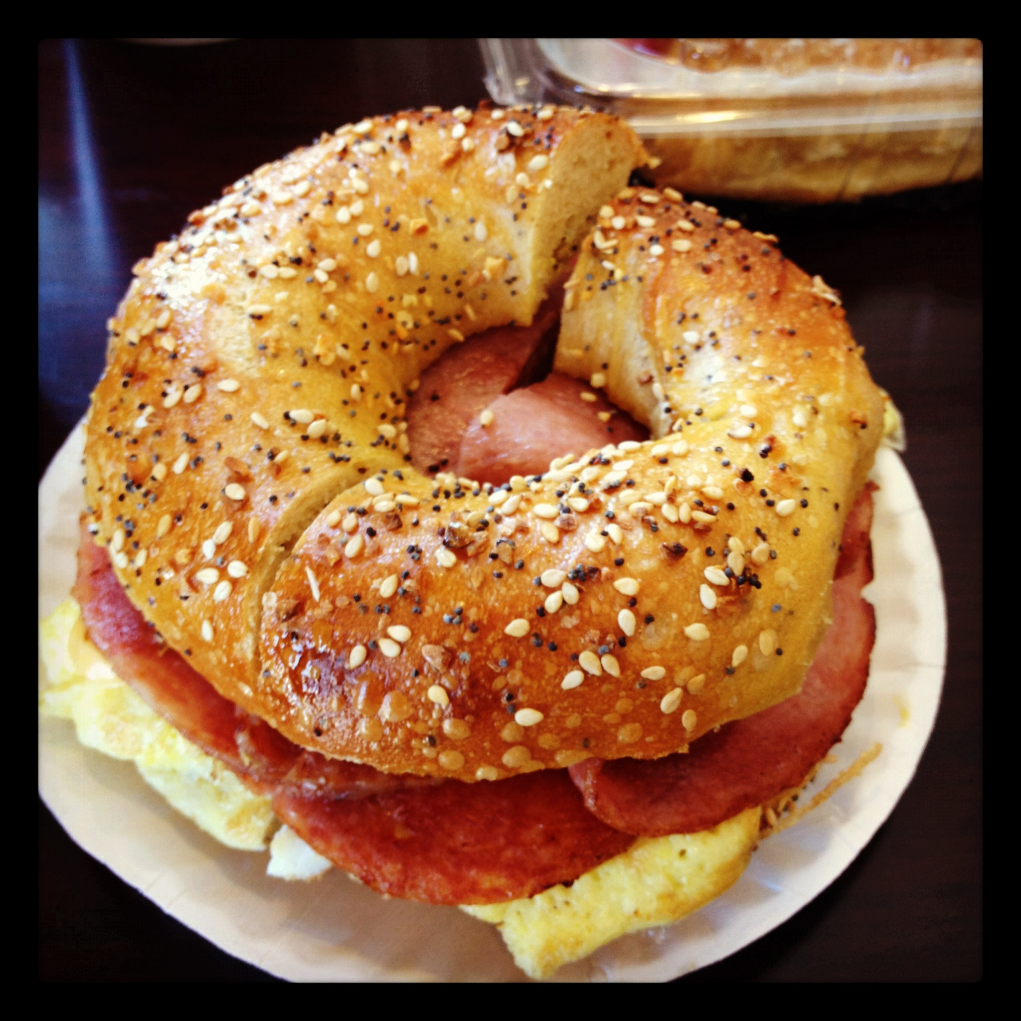 Egg Everything Bagel with Scrambled Egg, Taylor Ham, and Cheese