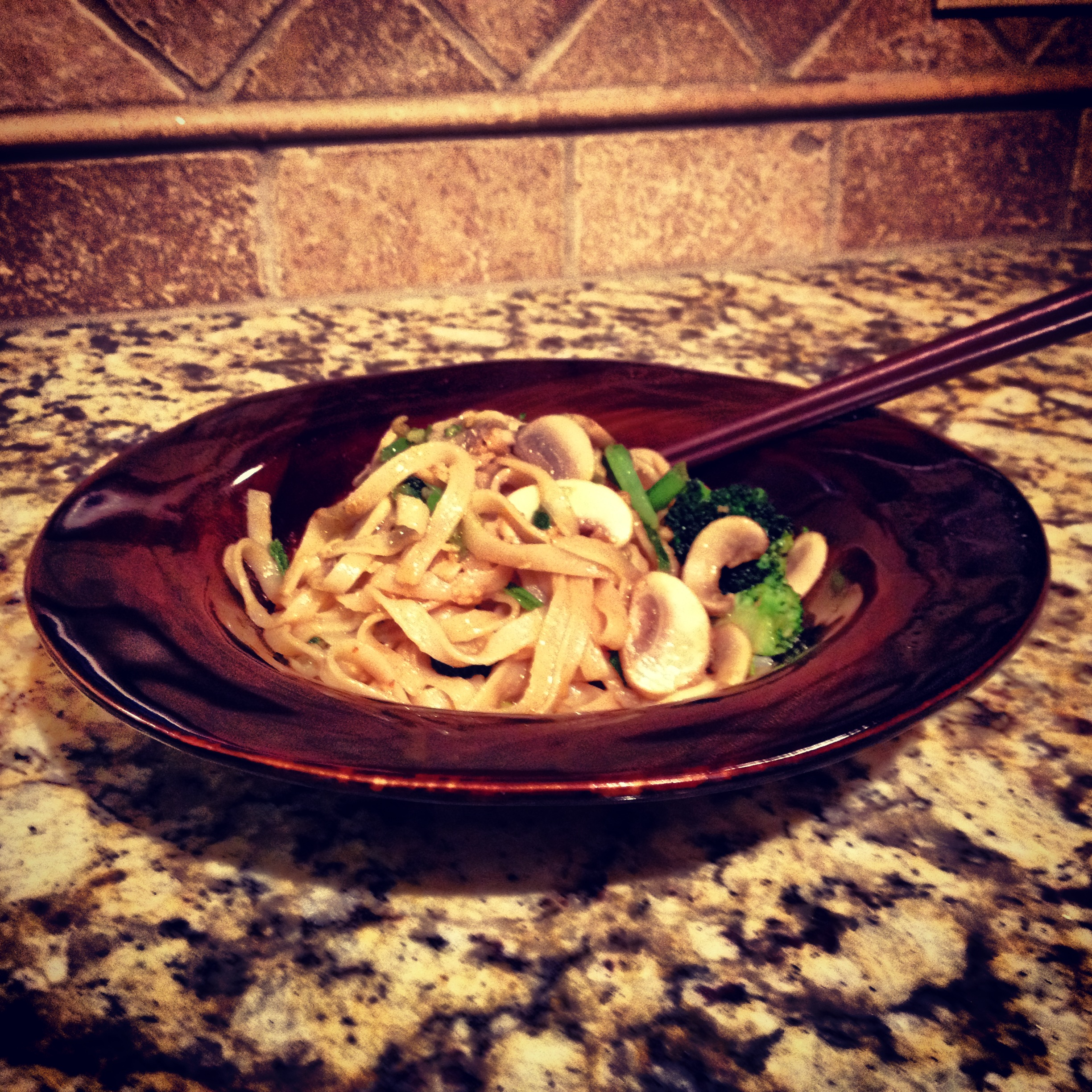 Mike's Asian Noodles with Peanut Sauce - yum!