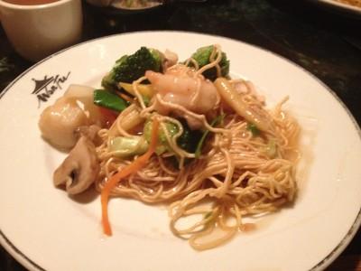 Seafood Pan Friend Noodles