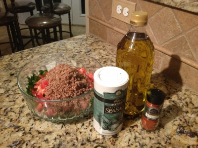 Ingredients ready for dressing