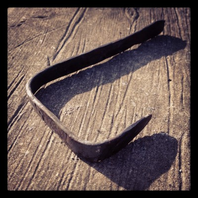 Day 6 blacksmithing project: a hook