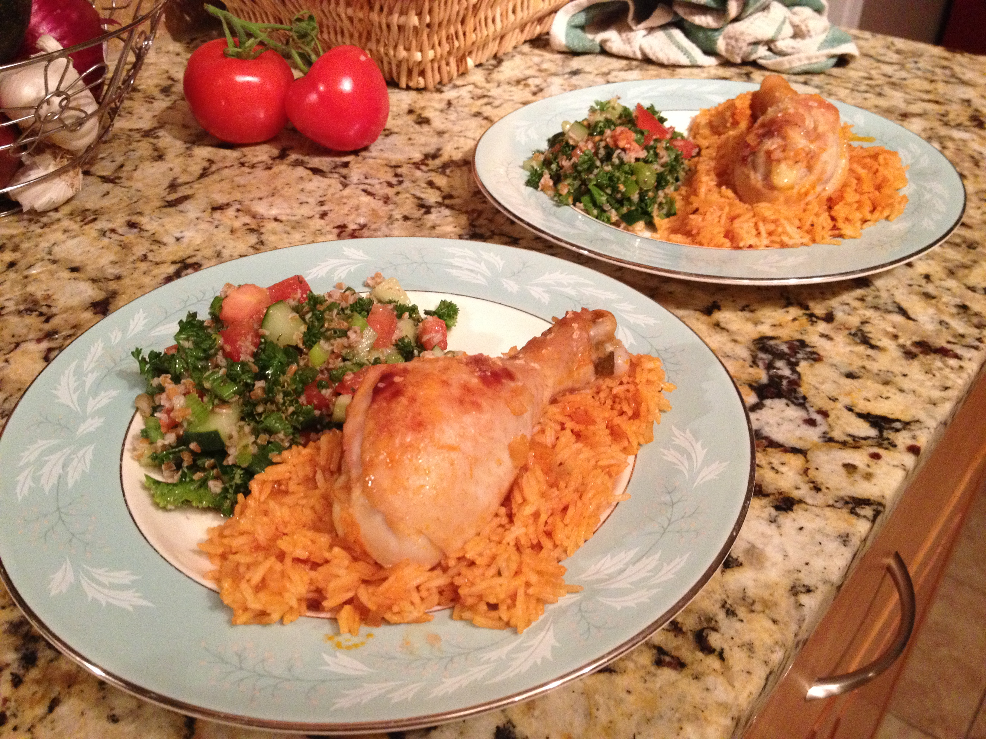 Kabsa, plated
