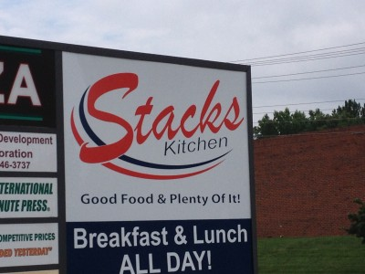 Stack's Matthews Location Sign