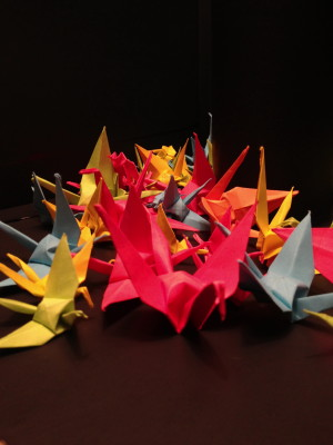 Pile of Paper Cranes